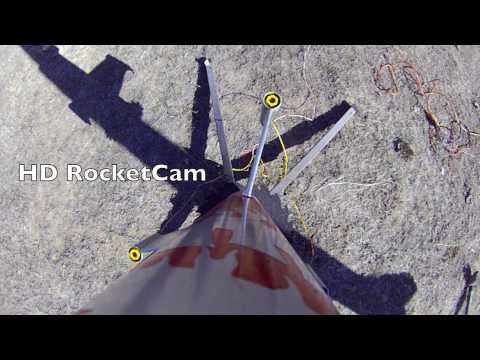 Epic Horizontal Rocket Launch with Fin-tip motors and Onboard HD Cam