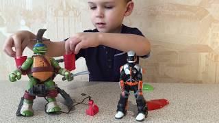ВМ: Черепашка Ниндзя Леонардо на вертолёте распаковка | Unboxing Teenage Mutant Ninja helicopter