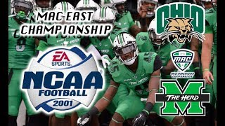 NCAA Football 2001 - Marshall Thundering Herd (8-2) vs. Ohio (6-4) LIVE!