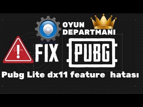 Pubg Lite dx11 feature level 10.0 is required to run the engine hatası [ÇÖZÜM YENİ EKRAN KARTI MI?]