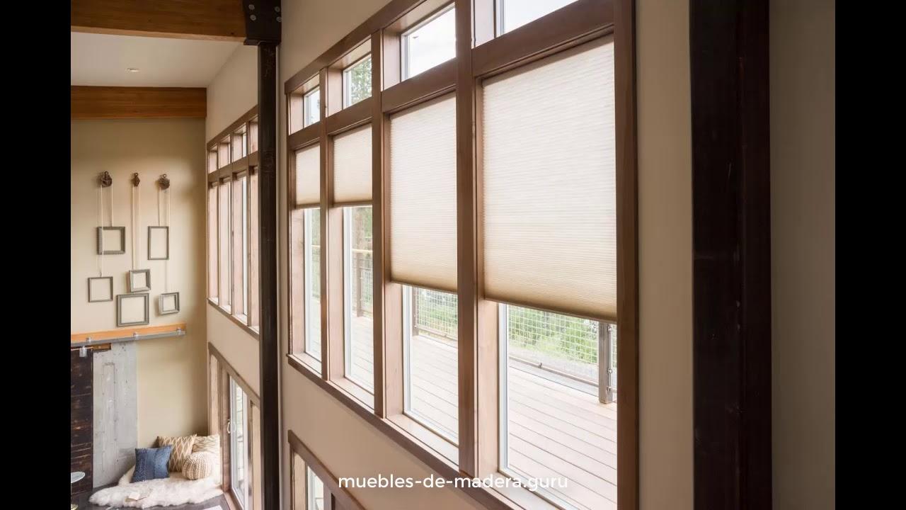 20 ideas de ventanas modernas en madera r stica youtube for Ventanas en madera para interiores