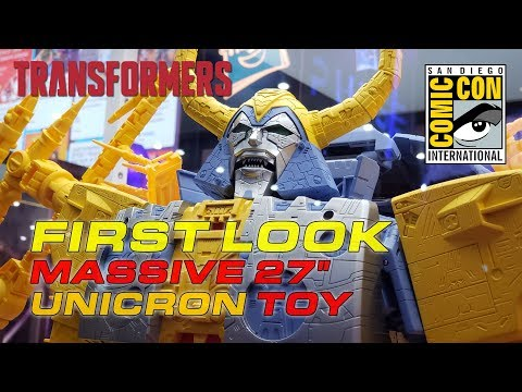 "HasLab UNICRON Transformers War for Cybertron SDCC 2019 reveal -- MASSIVE 27"" TALL FIGURE!!!"