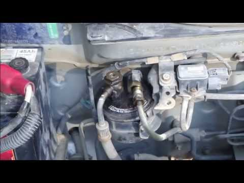 how to replace fuel filter honda civic  years 1991 to 1996