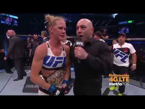 UFC 193: Holly Holm vs. Ronda Rousey Octagon Interview