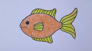 Cómo dibujar un pez kawaii