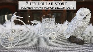 DIY DOLLAR STORE FRONT PORCH DECOR IDEAS 2020 + TOTALLY DAZZLED GIFT CARD WINNER