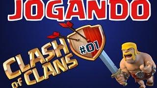 Jogando Clash of Clans - #1 - Push, Farming e Guerra - CV 9 e CV 10