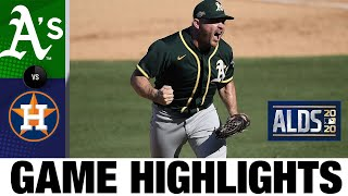 A's score 5 unanswered late to stay alive in ALDS | A's-Astros ALDS Game 3 Highlights