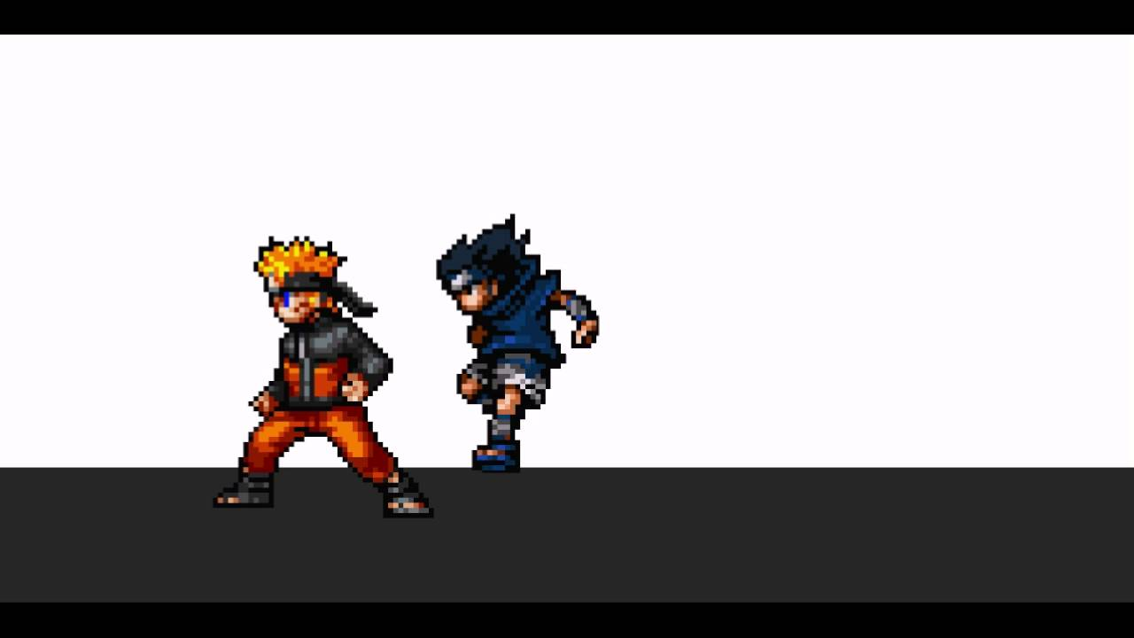 naruto fan animation pixel fights 1 youtube
