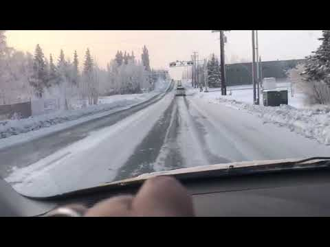 Driving On A Very Cold Day In ALASKA.
