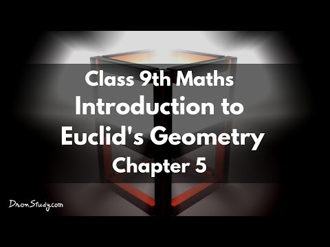 Introduction to Euclid's Geometry  :  Class 9 IX Maths CBSE