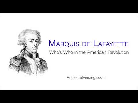 Marquis De Lafayette | Who's Who In The American Revolution | AF-176