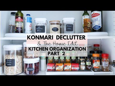 KONMARI Kitchen Declutter   The Home Edit Cupboard Organization   Part 2