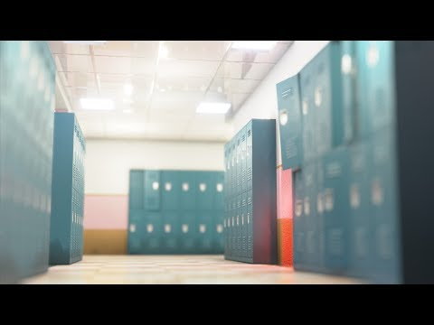 Download School Corridor Rendered In Blender 2 8 Eevee MP3