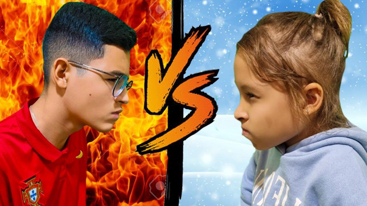 Gatinha das Artes e a História Engraçada do QUENTE VS FRIO   Hot vs Cold Challenge with Dad
