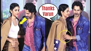 Varun Dhawan SAVES Banita Sandhu From Embarrassing Moment At October Trailer Launch