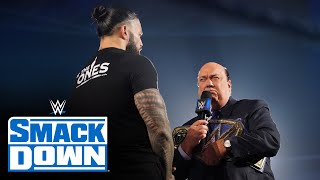Heyman tells Lesnar why Reigns will win at WWE Crown Jewel: SmackDown, Oct. 8, 2021