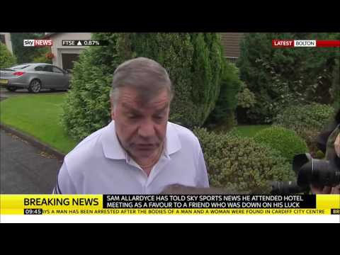 Sam Allardyce speaks after resigning as England manager