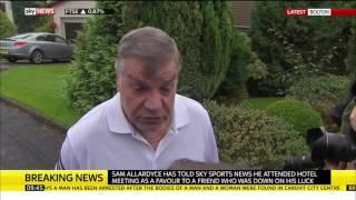 Sam Allardyce speaks after resigning as England manager