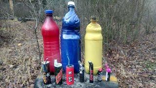 Взрываем Петарды в Бутылке | Военные дымовые шашки РДГ-2Ч и РДГ-2Б | Тест обзор цветной дым