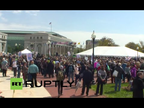 LIVE: Massive sit-in to hit DC's Capitol building over banking industry