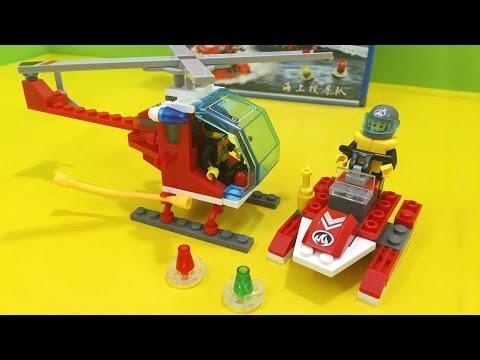 Đồ chơi lắp ráp LEGO xe cứu hỏa và máy bay trực thăng (Chim Xinh)