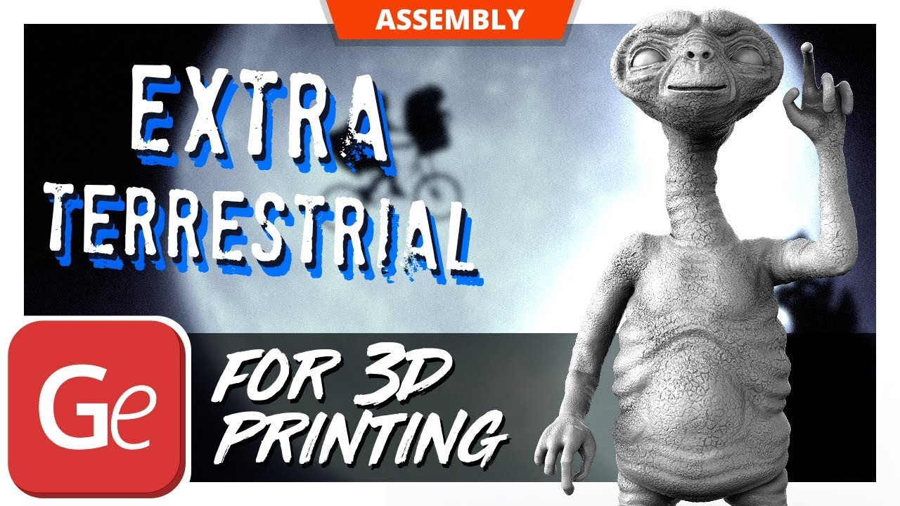 E T  the Extra Terrestrial 3D Printing Figurine | Assembly by Gambody