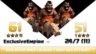 Clash of clans | Exclusive Empire vs 24/7 (11) | 11:1