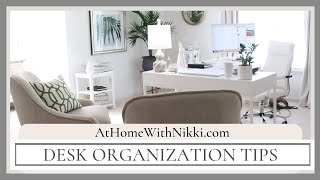 My Home Office Tour and Desk Organization