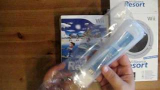 unboxing wii sport resort and including wii motionplus