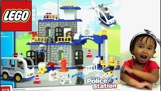 Mainan Anak Lego Blocks Kantor Polisi 💖 Stop Motion Animasi Lucu Perampokan Bank 💖 Jenica