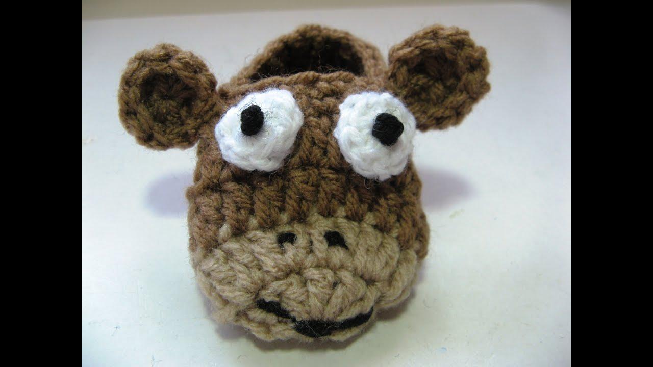 Easy Crochet Baby Critter Slippers Youtube