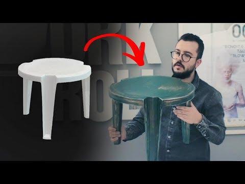 COMO PINTAR MESA DE PLÁSTICO ESTILO INDUSTRIAL | DIY | PAULO BIACCHI