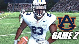 RONNIE BROWN BACK IN A MAJOR WAY - NCAA FOOTBALL 05 AUBURN DYNASTY GAME 2
