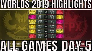 S9 Worlds 2019 Day 5 Highlights ALL GAMES Group B Concluded