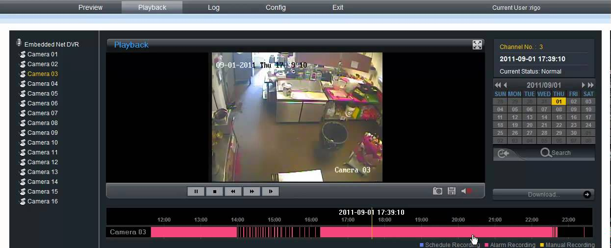 Hik Vision Dvr Demo Remote Viewing Youtube