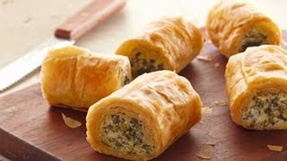 Make-ahead Spinach Phyllo Roll-ups