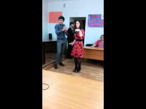 Azerbaijani guys' Caucasian Dance in Dagestan, Makhachkala