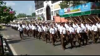 RSS Path Sanchalan  Route March 2016 Jaipur Part 1