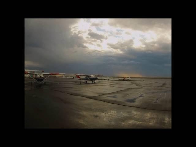 Storm passing over Ephrata Municipal Airport