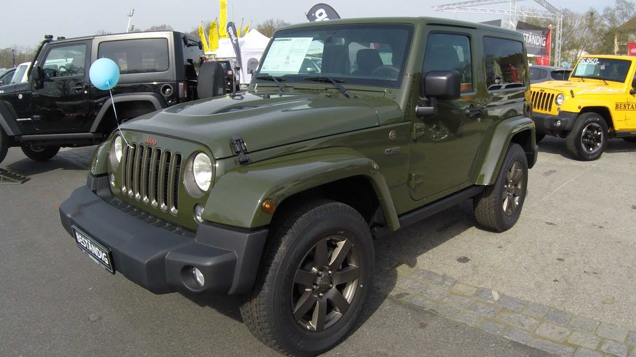 Matte Army Green Jeep Wrangler >> JEEP WRANGLER ! SARGE GREEN COLOUR ! TRAIL RATED ! SEVENTY FIVE YEARS EDITION ! MODEL 2017 ...