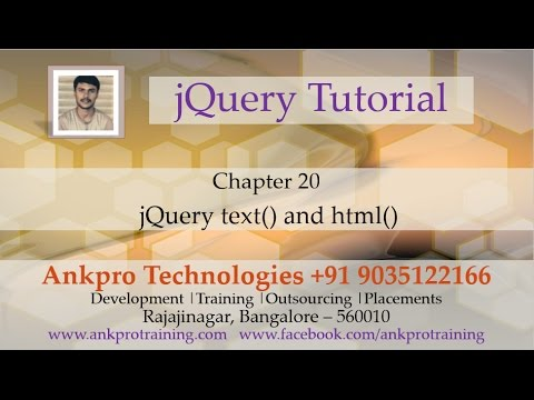JQuery 20 - text and html DOM manipulation methods - YouTube