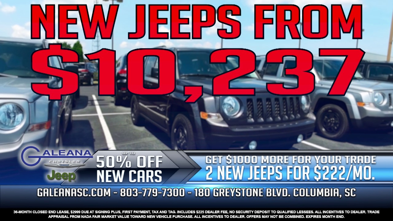 Get 50% Off New Cars At Galeana Chrysler Jeep - YouTube