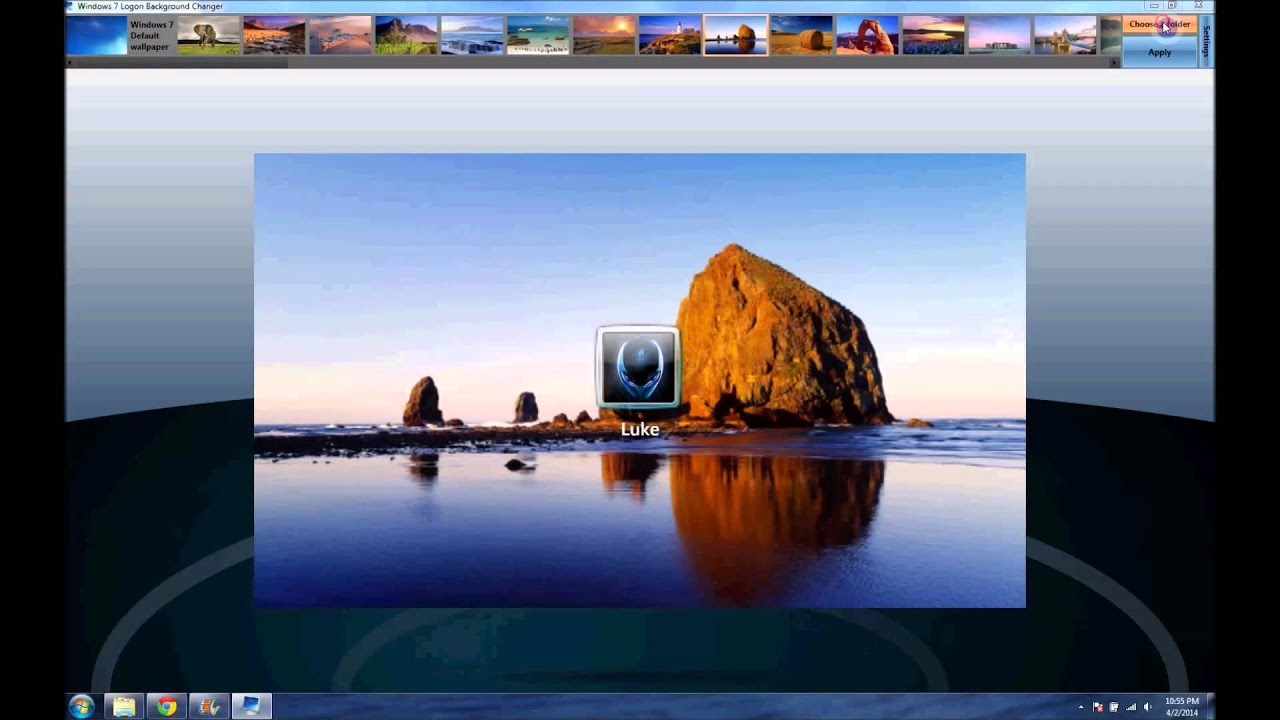 windows 7 logon background changer regedit