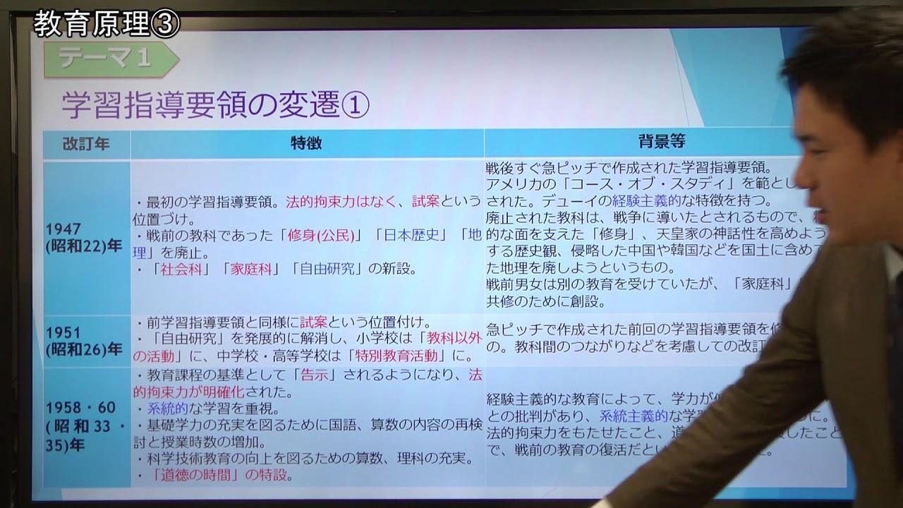 教職教養トレーニングブック 講義動画【第3回】 教育原理③