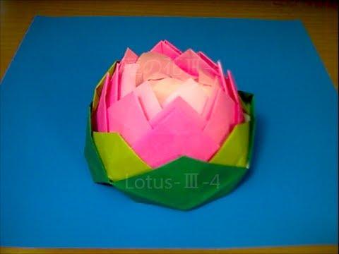 ハート 折り紙 折り紙 蓮の花 折り方 : youtube.com