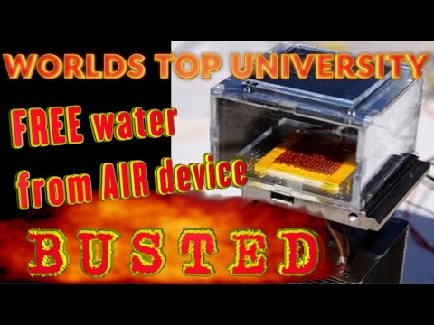 FREE water from AIR device: BUSTED