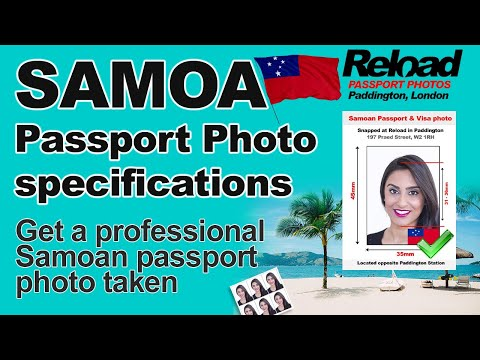 Samoan Passport Photo and Visa Photo snapped in Paddington, London