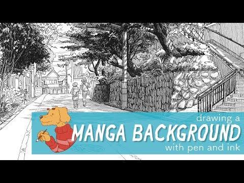 Drawing a manga style background