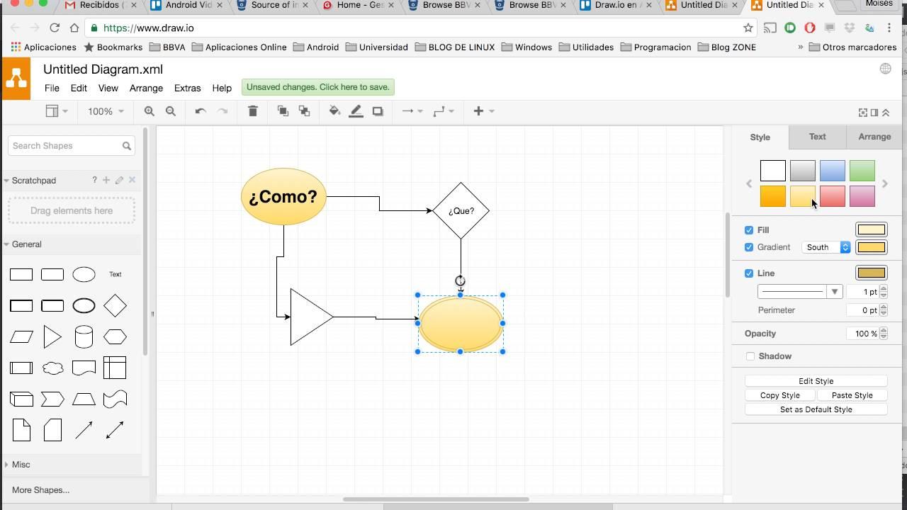 Draw Io Diagramas De Flujo Y Casos De Uso Para Tus Apps Youtube